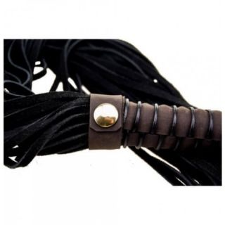 Bound Nubuck Leather Flogger