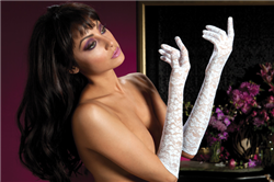 Seven 'Til Midnight White Lace Elbow Gloves